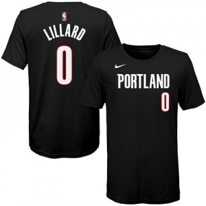 """Portland Trail Blazers Nike Damian Lillard Icon Name & Number T-Shirt """