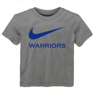 """Golden State Warriors Nike Swoosh T-Shirt – Dark Grey Heather – Kids"""