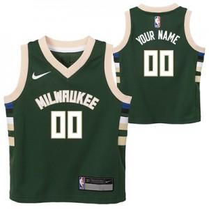 """Milwaukee Bucks Nike Icon Replica Jersey – Custom – Infant"""