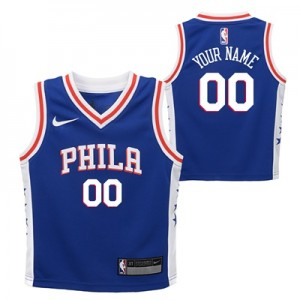 """Philadelphia 76ers Nike Icon Replica Jersey – Custom – Kids"""