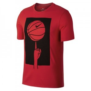 """Nike Spinning Ball T-Shirt – University Red – Mens"""