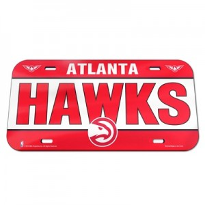 """Atlanta Hawks Wall License Plate"""