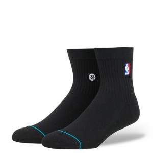 """NBA Stance Logoman Quarter Sock – Black – Mens"""