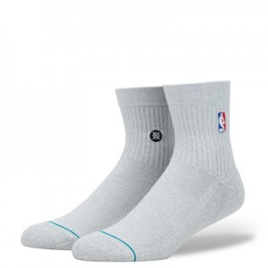 """NBA Stance Logoman Quarter Sock – Heather Grey – Mens"""