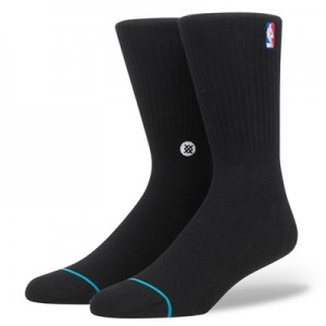 """NBA Stance Logoman Crew Sock – Black – Mens"""
