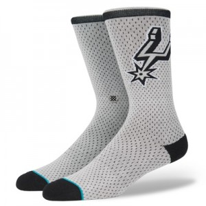"""San Antonio Spurs Stance Arena Collection – Jersey Crew Sock – Mens"""