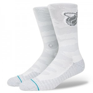 """Miami Heat Stance Arena Collection Snow Camo Crew Sock – Mens"""