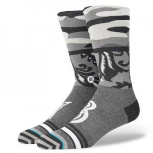 """NBA Stance Mens Squad Collection – Camo Mix JH Fashion Crew Sock – Men"""
