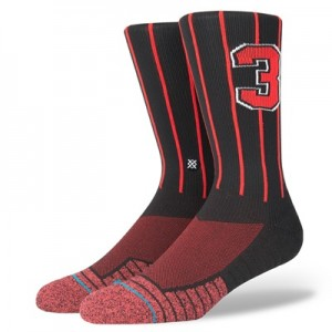 """""""NBA Stance Mens Squad Collection – D Wade Athletic Pinstripe Fashion C"""""""