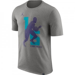 """Charlotte Hornets Jordan Kemba Walker Photo Print Player T-Shirt – Men"""