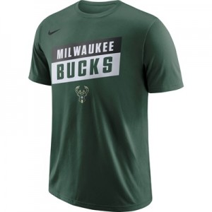 """Milwaukee Bucks Nike Stock Team T-Shirt – Mens"""