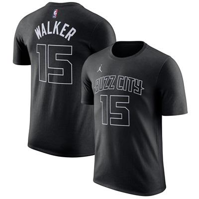"""Charlotte Hornets Jordan Kemba Walker City Name & Number T-Shirt – Men"""