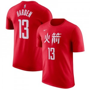 """Houston Rockets Nike James Harden City Name & Number T-Shirt – Mens"""