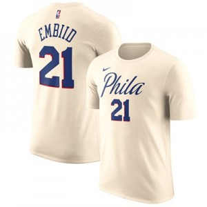 """Philadelphia 76ers Nike Joel Embiid City Name & Number T-Shirt – Mens"""