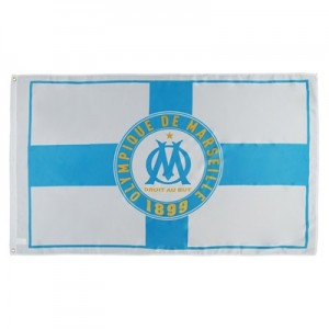 Olympique de Marseille Cross Flag