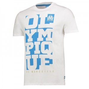 Olympique de Marseille Graphic T-Shirt – White – Mens