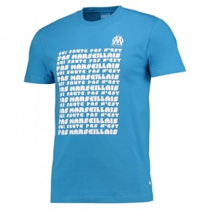 Olympique de Marseille Text T-Shirt – Blue – Mens