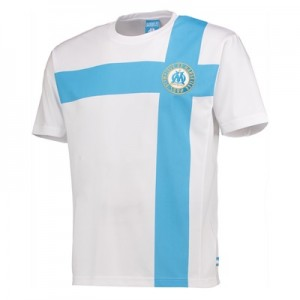 Olympique de Marseille Polyester Cross T-Shirt – White – Mens