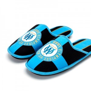 Olympique de Marseille Collegiate Slippers – Black – Mens
