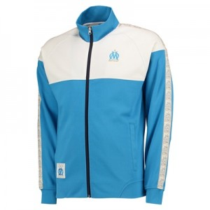 Olympique de Marseille Lifestyle Track Jacket – Blue/Off White – Mens