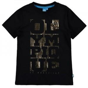 Olympique de Marseille Foil Graphic T-Shirt – Black – Boys