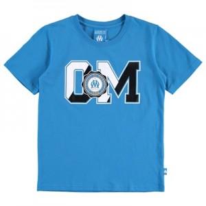 Olympique de Marseille Collegiate T-Shirt – Blue – Boys
