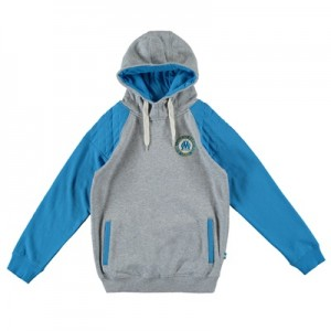 Olympique de Marseille Hoodie – Grey/Blue – Boys