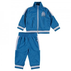 Olympique de Marseille Polyester Tracksuit – Blue – Baby