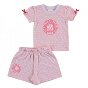 Olympique de Marseille Spotty T-shirt and Short Set – Pink – Baby Girl