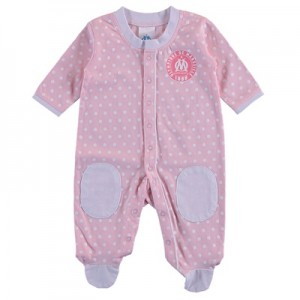 Olympique de Marseille Spotty Sleepsuit – Pink – Baby Girls