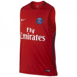 Paris Saint-Germain Squad Sleeveless Training Top – Red
