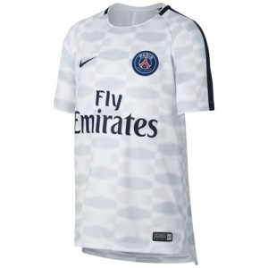 Paris Saint-Germain Squad Pre Match Top – White – Kids