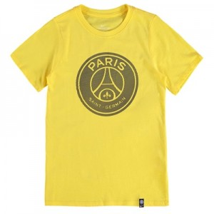 Paris Saint-Germain Crest T-Shirt – Yellow – Kids