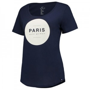 Paris Saint-Germain Squad T-Shirt – Navy – Womens