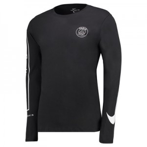 Paris Saint-Germain Squad Long Sleeve T-Shirt – Black