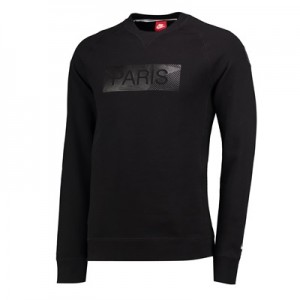 Paris Saint-Germain Authentic Crew Neck Sweater – Black