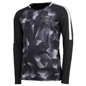 Paris Saint-Germain Squad Pre-Match Long Sleeve Training Top – Black