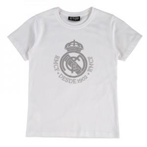 Real Madrid Tonal Crest T-Shirt – White – Junior