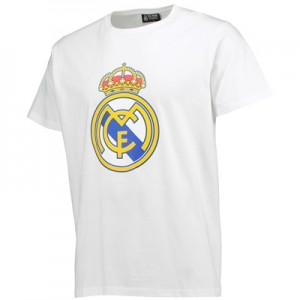 Real Madrid Crest T-Shirt – White – Mens