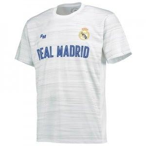 Real Madrid Polyester Training T-Shirt – White – Mens