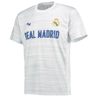 Real Madrid Polyester Training T-Shirt – White – Mens