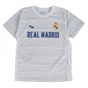 Real Madrid Polyester Training T-Shirt – White – Junior