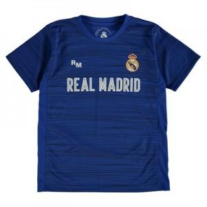 Real Madrid Polyester Training T-Shirt – Blue – Junior
