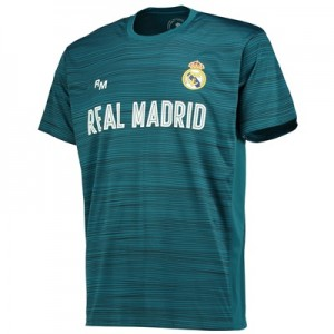 Real Madrid Polyester Training T-Shirt – Green – Mens