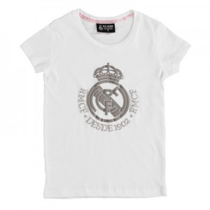 Real Madrid Tonal Crest T-Shirt – White – Girls