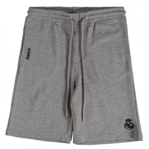 Real Madrid Fleece Shorts – Grey Marl – Junior