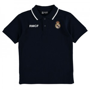 Real Madrid Crest Polo Shirt – Navy – Junior