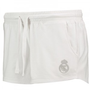 Real Madrid Fleece Shorts – White – Womens