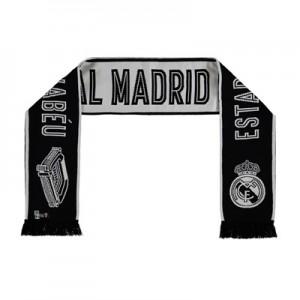 Real Madrid Stadium Fan Scarf – White/Black – Adult