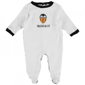 Valencia CF Crest Sleepsuit – White – Baby